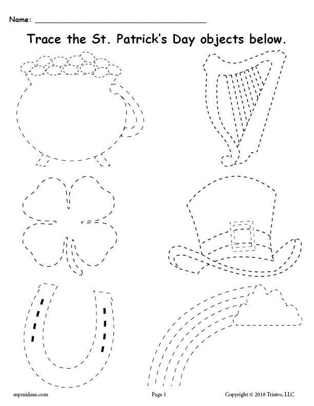 picture regarding St Patrick's Day Worksheets Free Printable titled Absolutely free Printable St. Patricks Working day Tracing Worksheet! SupplyMe