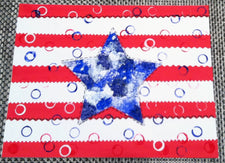 Memorial Day Star Quilt Display