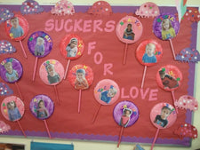Suckers For Love! - Valentine's Day Bulletin Board