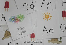 FREE Summer Themed Printable Alphabet Game!