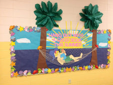 Hang Out With A Good Book! - Summer Reading Bulletin Board