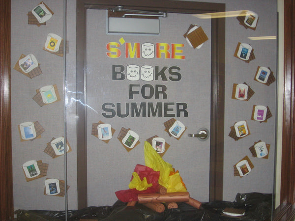 S More Books For Summer Camping Themed Bulletin Board