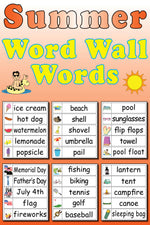 30 Summer Word Wall Words - FREE Printable
