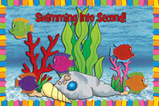 Swimming Into Second! - End of the Year Bulletin Board