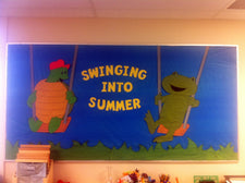 """Swinging Into Summer"" Bulletin Board Idea"