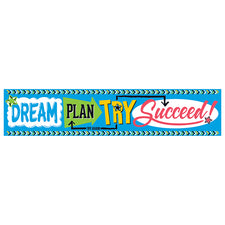 Bold Strokes Dream. Plan. Try. Quotable Expressions® Banner – 5 Feet