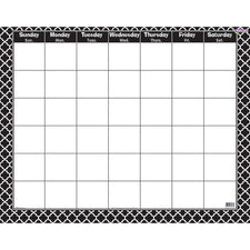 Moroccan Black Wipe-Off® Calendar – Monthly