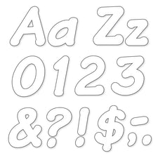 White 4-Inch Italic Uppercase/Lowercase Combo Ready Letters®