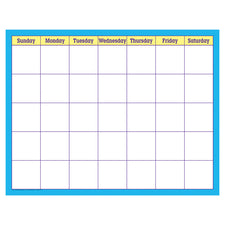 Blue Check Wipe-Off® Calendar – Monthly