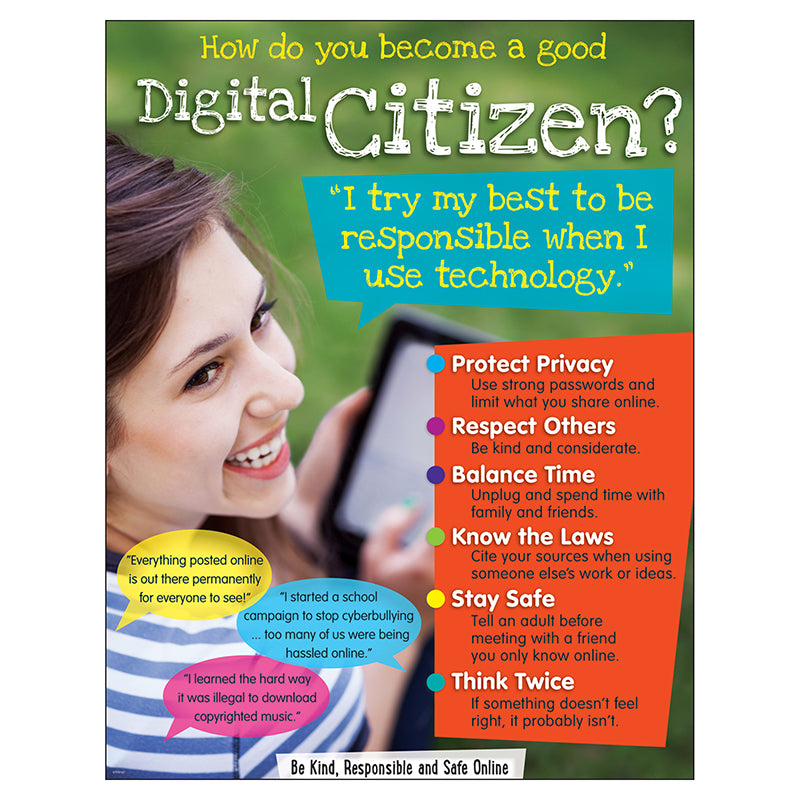 Digital Citizenship (Secondary) Learning Chart