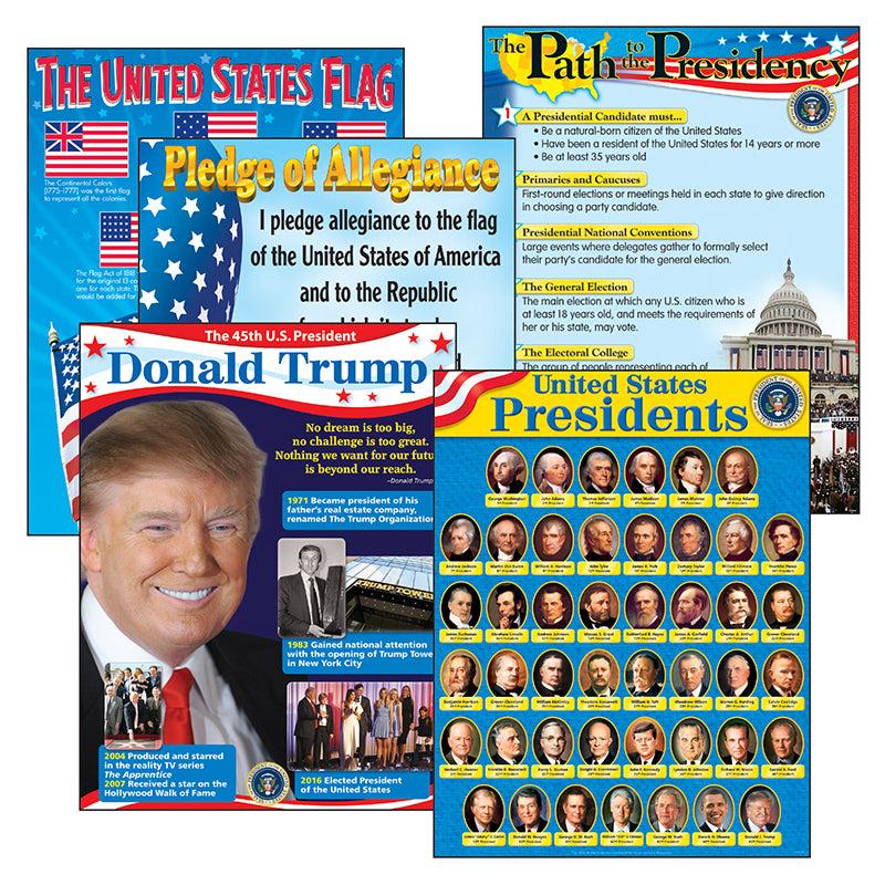 U.S. Presidents Learning Charts Combo Pack