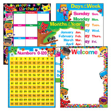 Classroom Basics BlockStars!™ Learning Charts Combo Pack