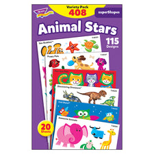 Animal Stars superShapes Stickers – Large Variety Pack