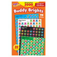 Buddy Brights superSpots® and superShapes Stickers Variety Pack