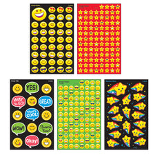Emoji Smiles superSpots® & superShapes Stickers Variety Pack