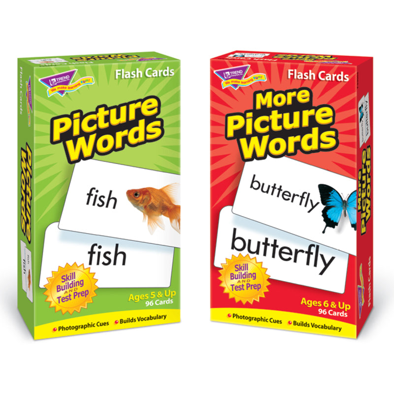 Picture Words Flash Cards Set
