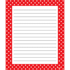 Polka Dots Red Note Pad – Rectangle