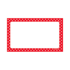 Polka Dots Red Blank Terrific Index Cards™