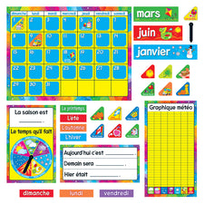 Calendrier Annuel Bulletin Board Set (French)