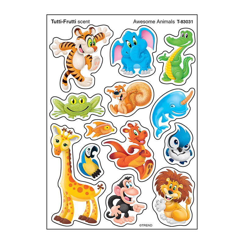 Awesome Animals Stinky Stickers® (Tutti-Frutti) – Mixed Shapes