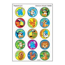 Awesome Animals Stinky Stickers® (Tropical) – Large Round