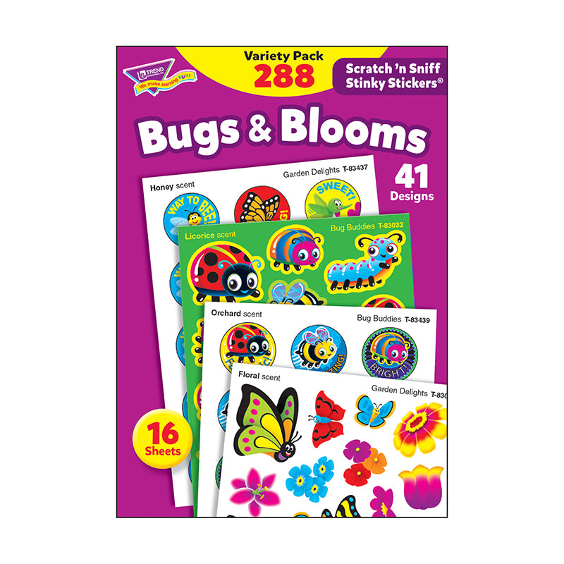 Bugs & Blooms Stinky Stickers® Variety Pack
