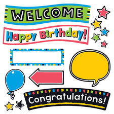 Bold Strokes Wipe Off® Celebration Signs Bulletin Board Set