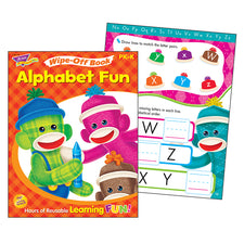 Alphabet Fun Sock Monkeys Wipe-Off® Activity Book