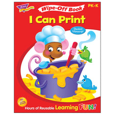 Trend Enterprises I Can Print (Standard Manuscript) Wipe-Off® Book
