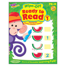Trend Enterprises Ready to Read–Level 1 (Monkey Mischief®) Wipe-Off® Book