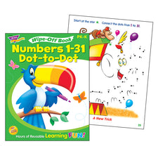 Trend Enterprises Numbers 1-31 Dot-to-Dot Wipe-Off® Book