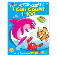 Trend Enterprises I Can Count 1-100 Wipe-Off® Book