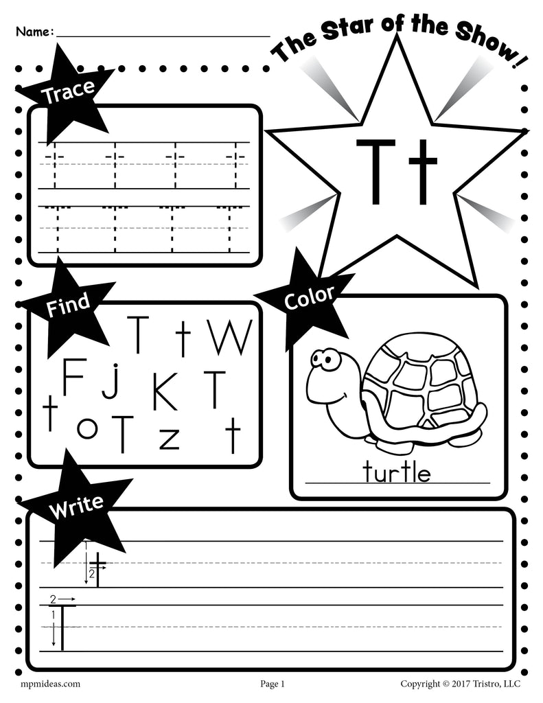 - Letter T Worksheet: Tracing, Coloring, Writing & More! – SupplyMe