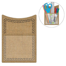 Burlap Magnetic Storage Pocket