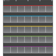 Black Polka Dots Storage Pocket Chart