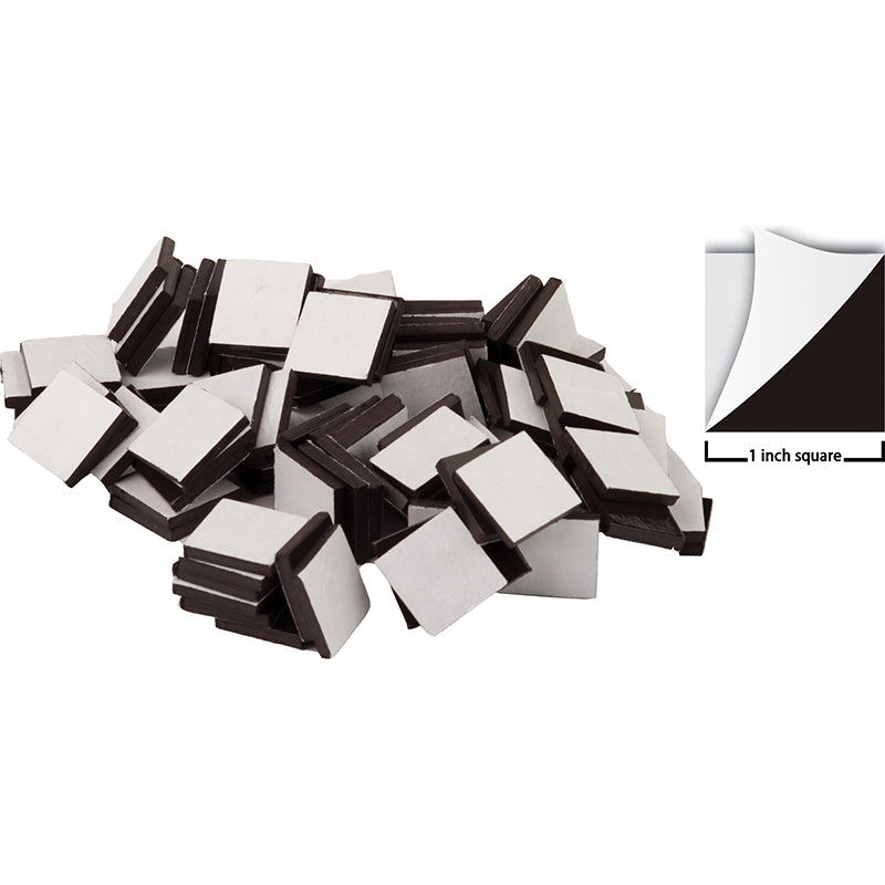 "Adhesive Magnetic Squares - 1"", 50 Pack"