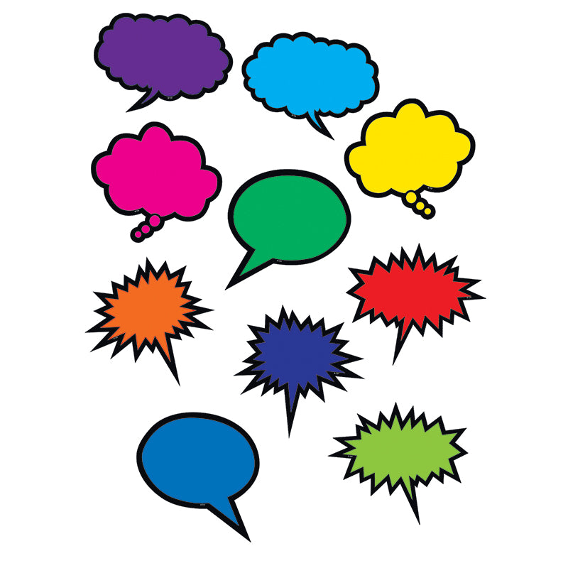 Colorful Speech/Thought Bubbles Accents
