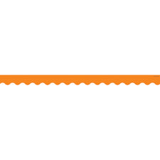 Orange Scalloped Bulletin Board Border Trim