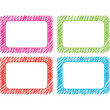 Scribble Name Tags/Labels Multi-Pack