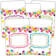 Confetti Library Pockets - Multi-Pack