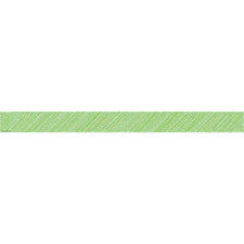 Lime Scribble Straight Bulletin Board Border Trim