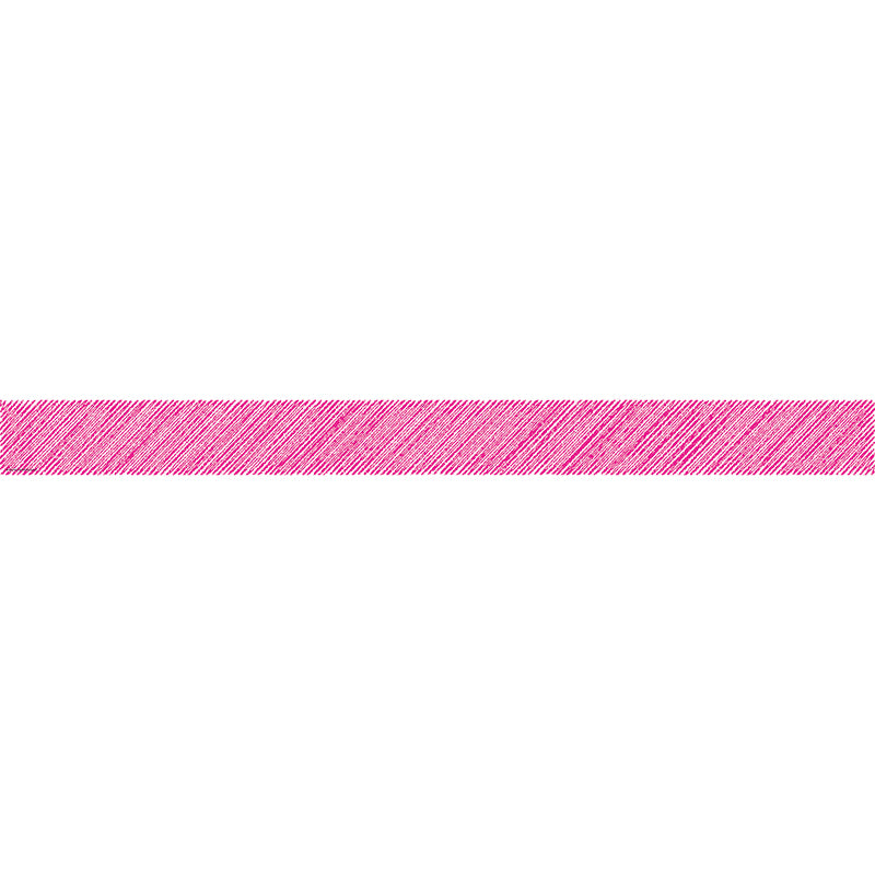 Hot Pink Scribble Straight Bulletin Board Border Trim