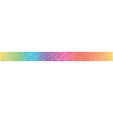 Colorful Scribble Straight Bulletin Board Border Trim