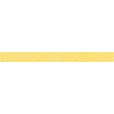 Yellow Scribble Straight Bulletin Board Border Trim