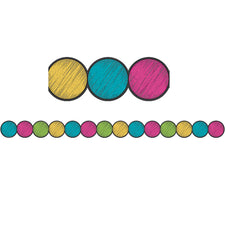 Chalkboard Brights Circles Die-Cut Bulletin Board Border
