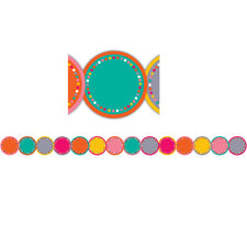 Tropical Punch Circles Die-Cut Bulletin Board Border Trim