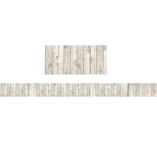 White Wood Straight Bulletin Board Border Trim