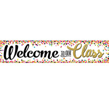 Confetti Welcome to Our Class Banner