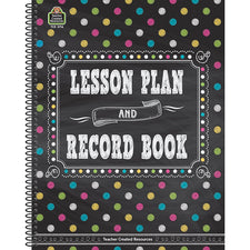 Chalkboard Brights Teacher Plan and Record Book