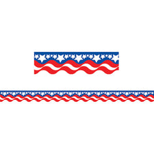 Patriotic Scalloped Border Trim
